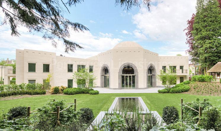 Qatar embassy Moca Cream limestone cladding