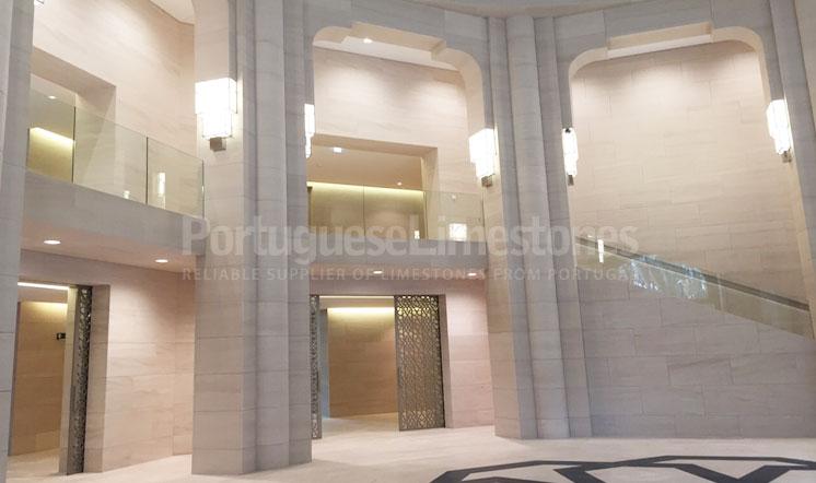 Qatar embassy Moca Cream limestone interior decoration
