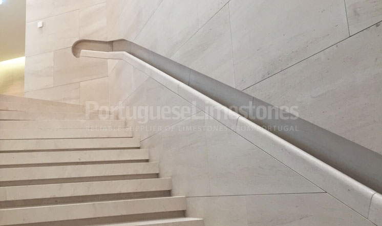 Qatar embassy Moca Cream limestone staircases and coverings