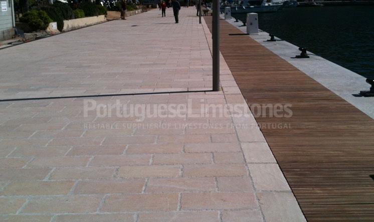 Ataija Beige limestone paving