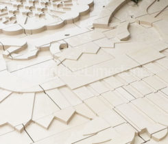 Cladding wall carved