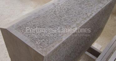 Grey limestone kerbs production