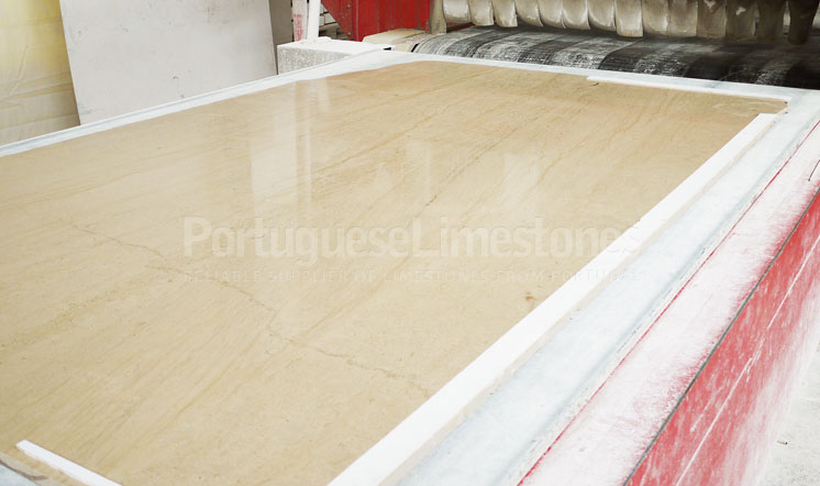 Limestone slabs production