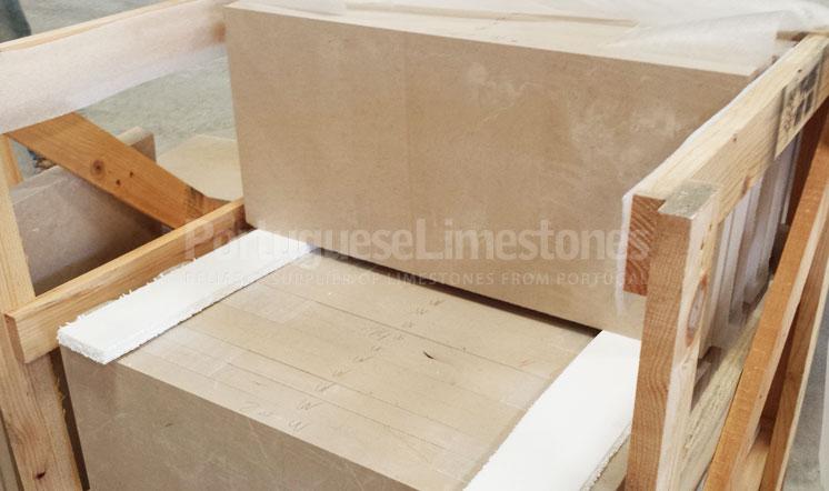 Moca Cream Cross-cut limestone cladding panels