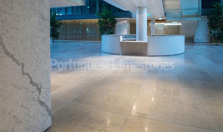 Moleanos Blue limestone flooring - Canberra, Australia