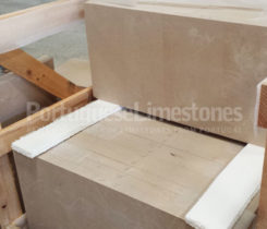 Portuguese limestone cladding packing