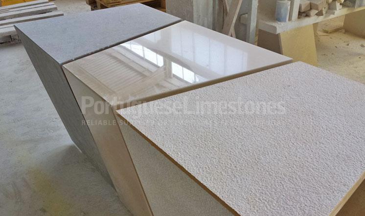 Portuguese limestone tables production