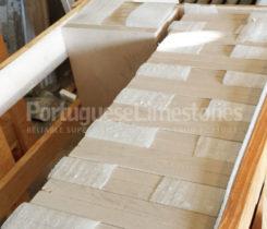 Portuguese limestone tiles crates