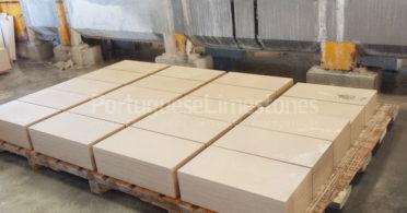 Portuguese limestone tiles production