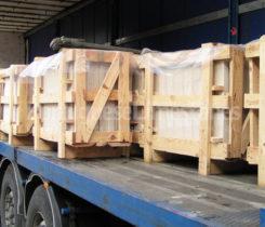 Portuguese limestone tiles transport